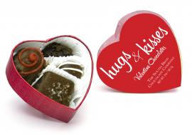 Assorted cherry blossoms,creams, caramels and meltaways in a red heart box. Available January 1 - while supplies last.