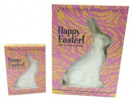 It'll be a hoppy Easter with this solid white chocolate bunny. Available February 1 - while supplies last.