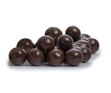 Malted milk ball center coated in milk chocolate.