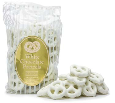 White chocolate covered pretzels.
