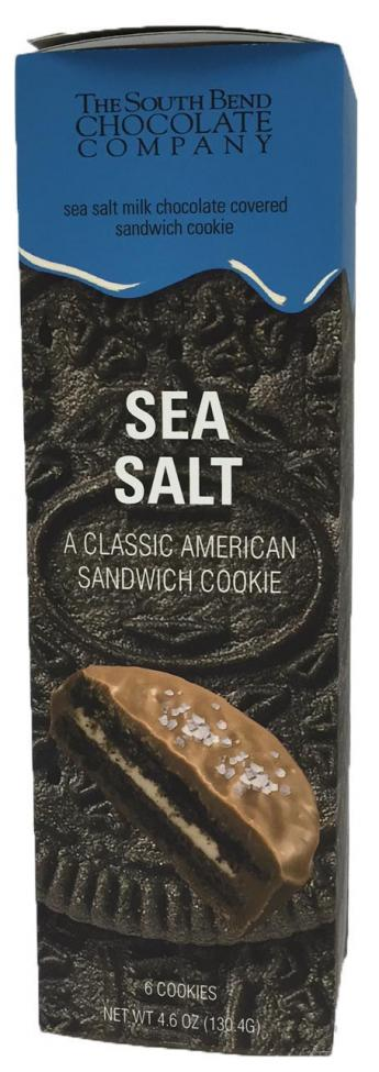 Your favorite cookie covered in pure milk chocolate sprinkled with sea salt.