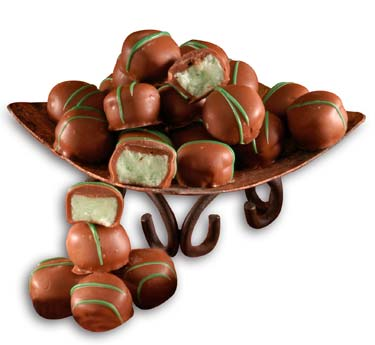 Lime cream center covered in milk chocolate.