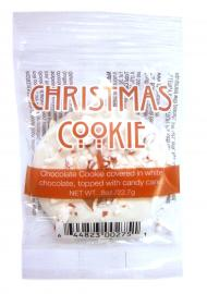Chocolate cookie covered in white chocolate, topped with candy cane. Available October 1 - while supplies last.