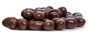 Peanuts coated in sugar-free milk chocolate (using Maltitol).