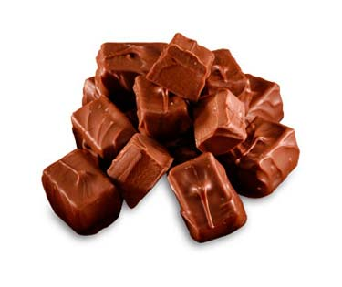 Cherry chocolate center covered in milk chocolate.