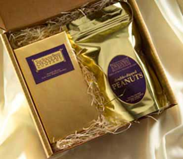 Simple, elegant. The Classic Box combines our best selling 1 lb. bag of Double Dipped Peanuts with an 8 oz. box of Gourmet Assorted Chocolates.