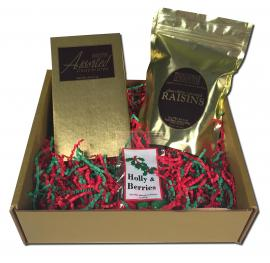 A Taste of Christmas Gift Box comes shipped with the following:
