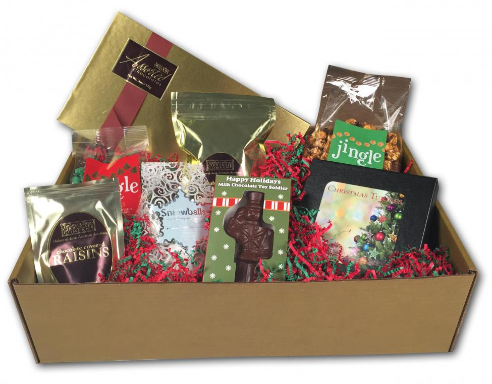 This Best of the Holiday Gift Box comes shipped with: