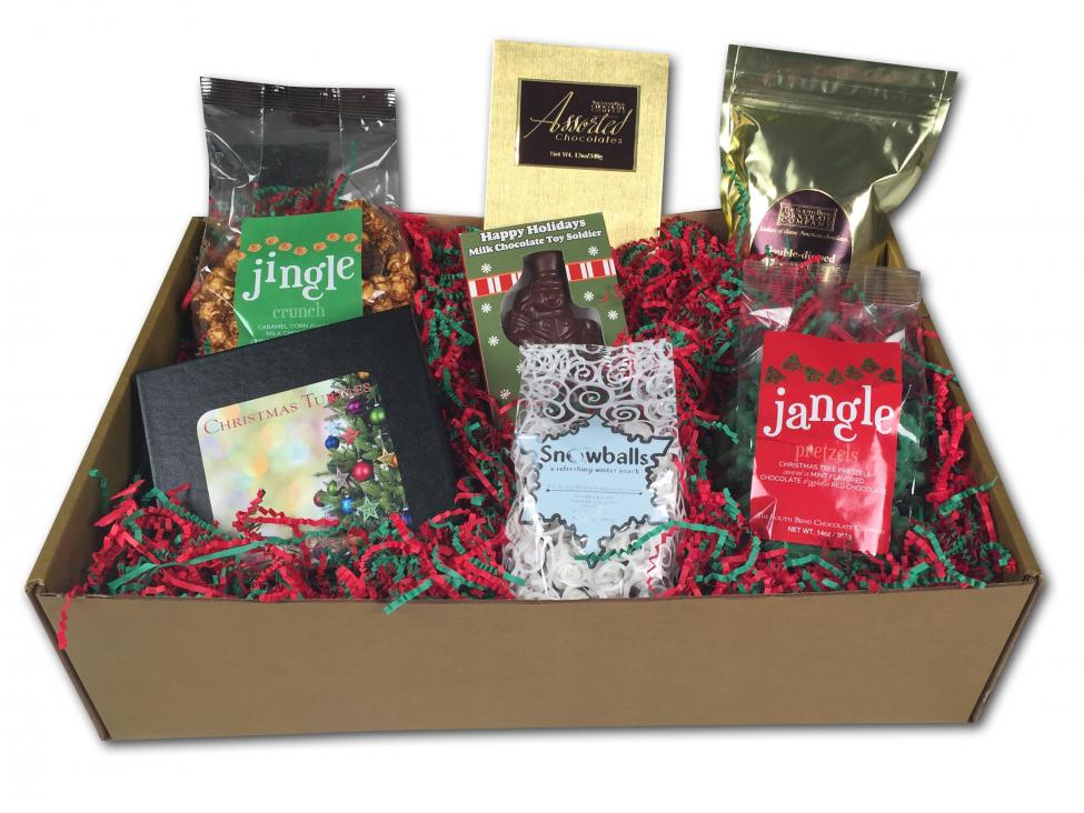 The Jingle All The Way Gift Box comes shipped with the following: