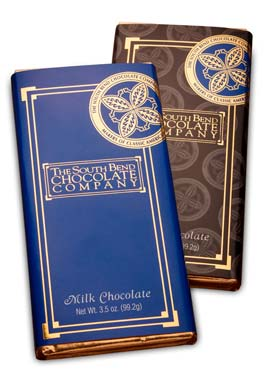 Celebrate South Bend with this pure dark chocolate bar.