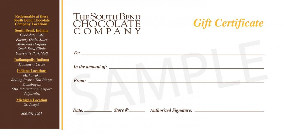 Give the gift of chocolate, and let the receiver choose whatever they want with a gift certificate.